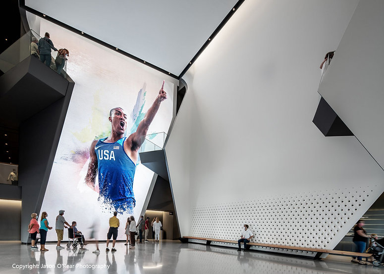 United States Olympic and Paralympic museum lobby film