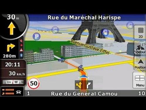 IGO 8 Europe 07/2021 Version standard pour autoradio GPS Windows CE