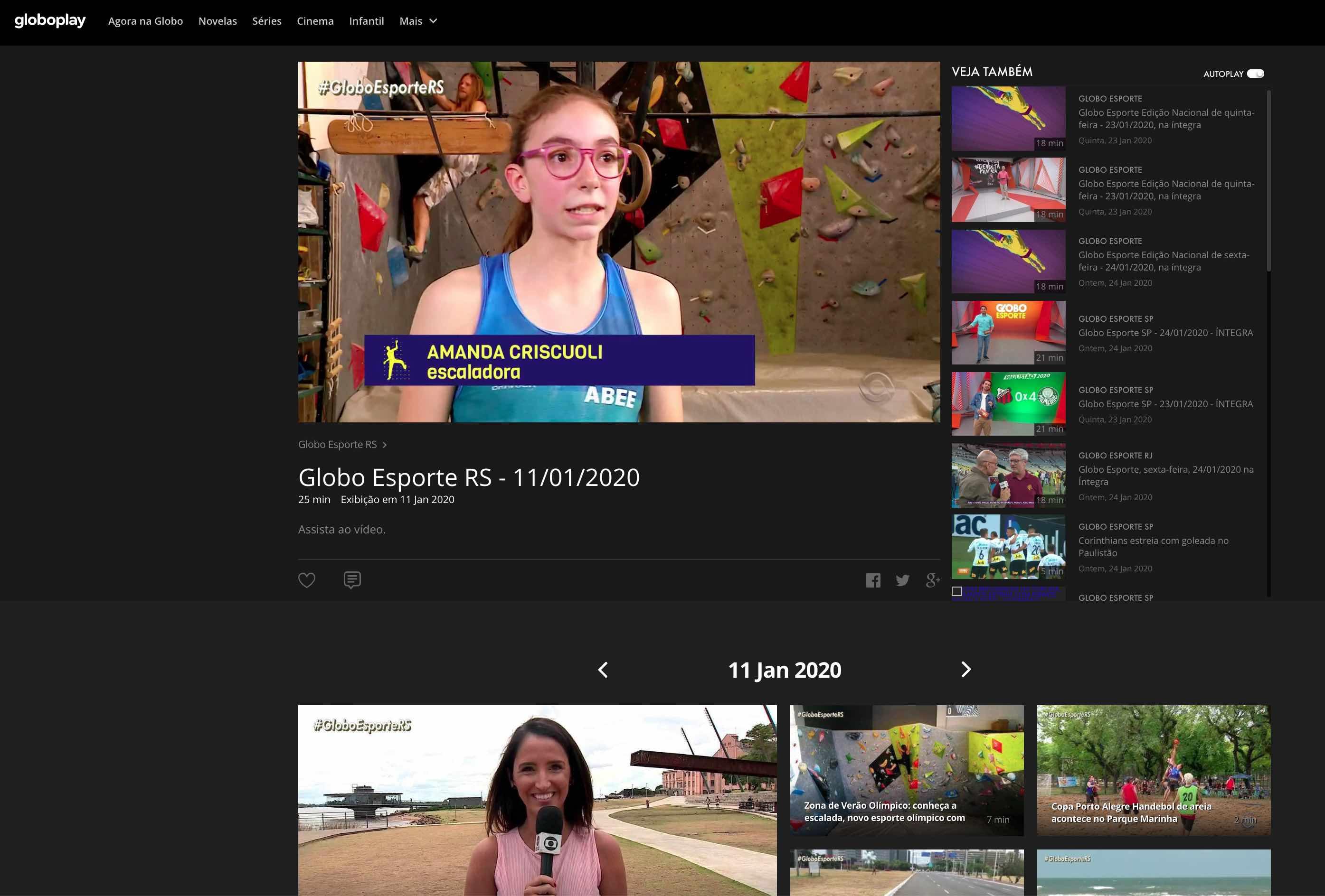 Program Globo Esporte RS - Zona de Verão Olímpico