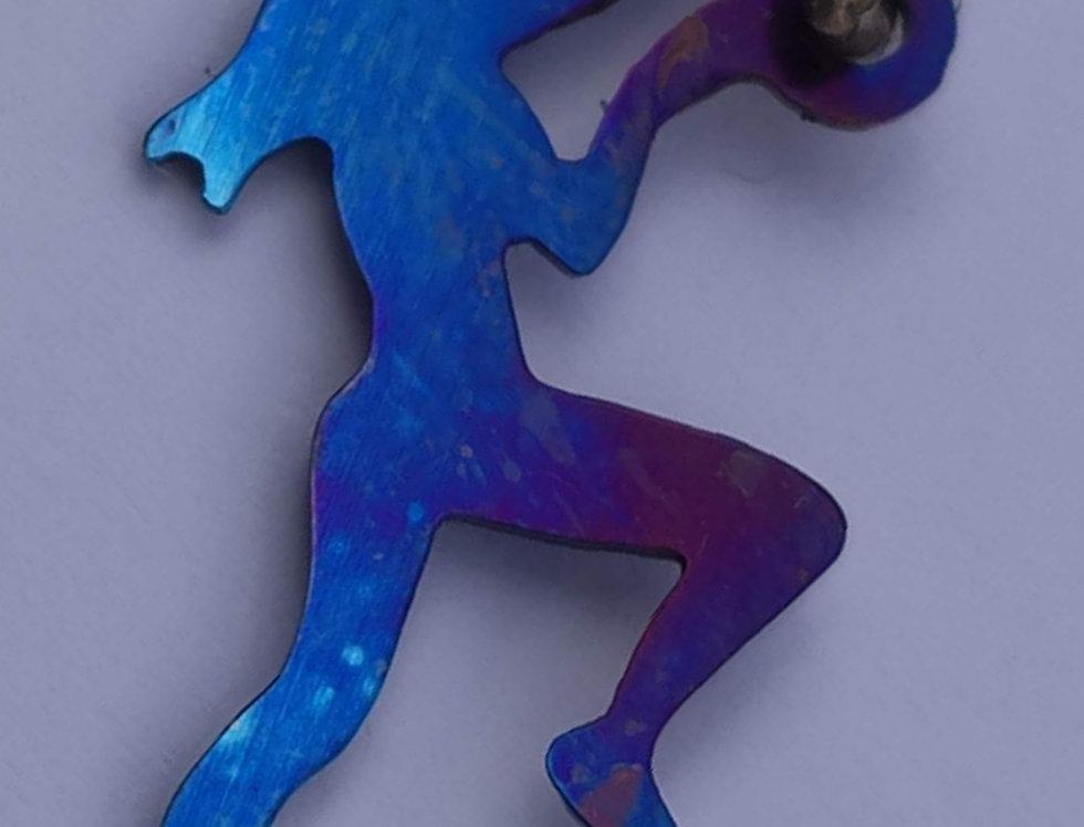Pingente Escalador(a) - Titânio
