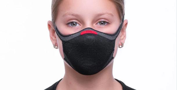 Mascara de proteção esportiva Fiber E 96 Preta Tamanho Infantil