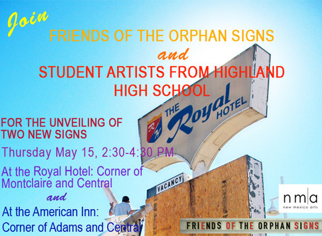 Unveiling of Highland Project Signs