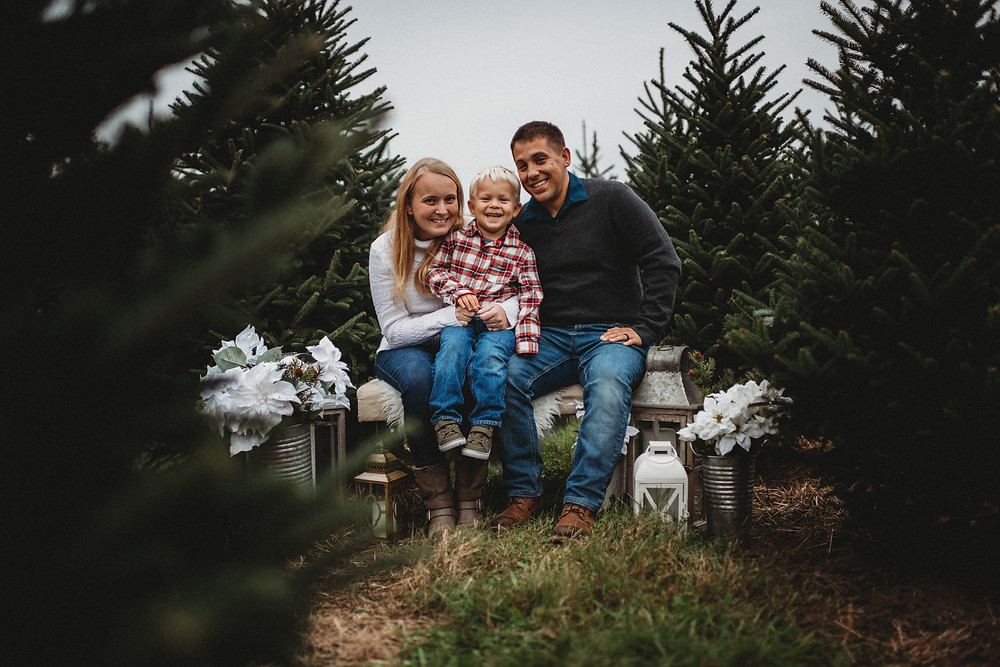 Holiday Tree Farm Mini Photo Sessions in New London, Connecticut