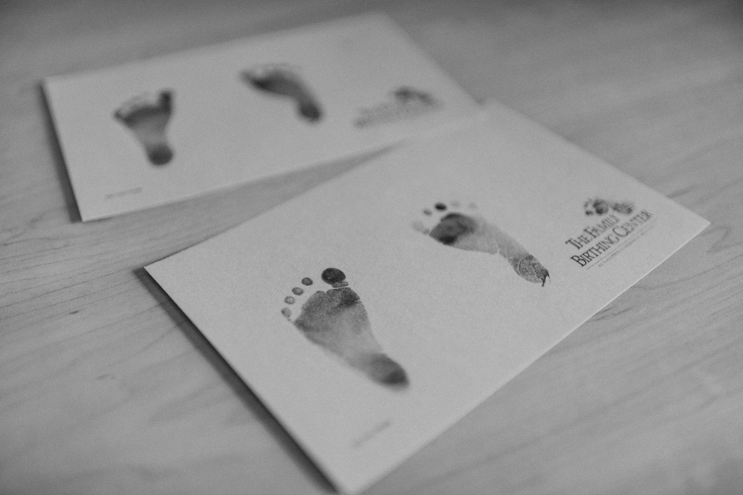 Baby's first footprint | New London Connecticut Birth Photographer