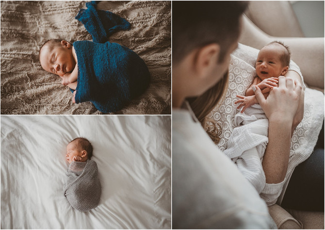 Babies, footballs, and furry friends | New London County Connecticut Newborn & Family Photograph