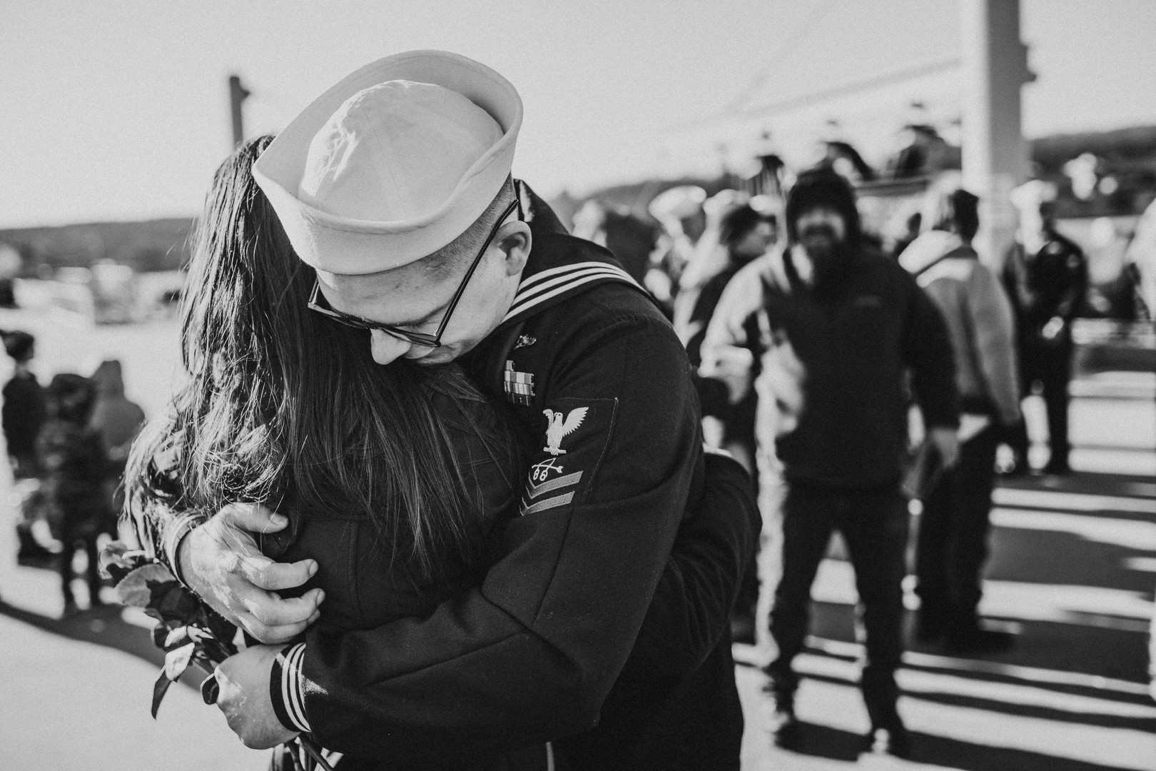 Deployment and welcome home photographer for Military Spouses in Groton Connecticut