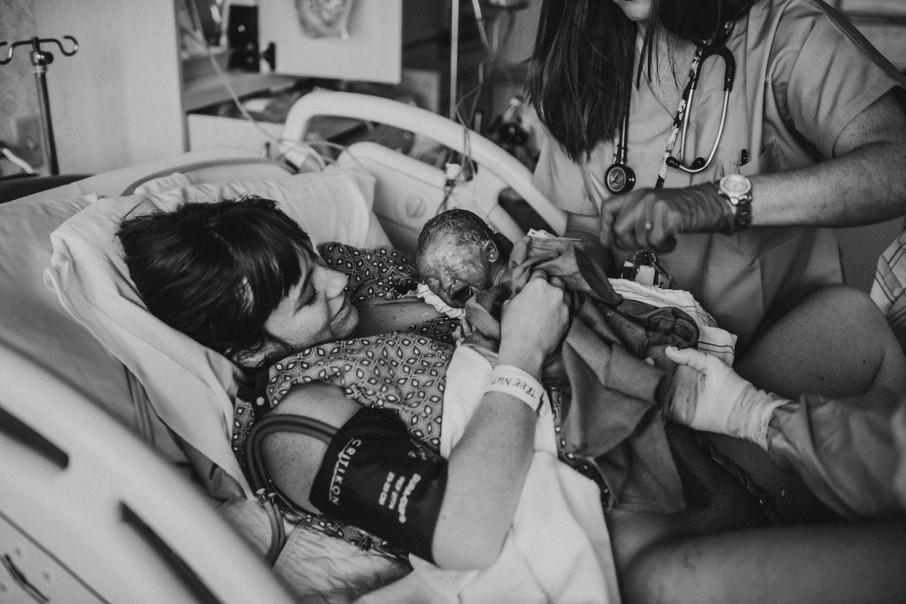 Home or hospital birth photography | Best Rhode Island Birth Photographer.