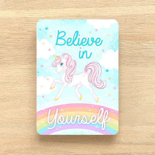 Art Print ~ A4 ~ 'Believe in Yourself' by Liz Yuile ~ Hand finished with Glitter