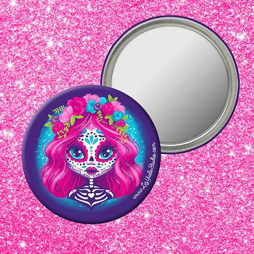 Cute-tober Sugar Skull Compact Mirror