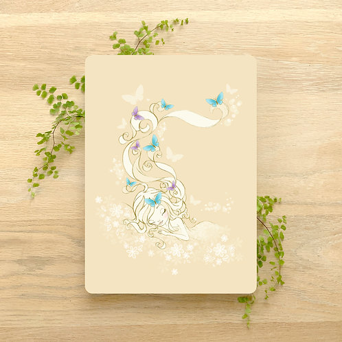 Art Print ~ A4 ~ 'Sleeping with Butterflies' by Liz Yuile