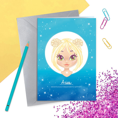 Aries Gift Zodiac Greetings Card