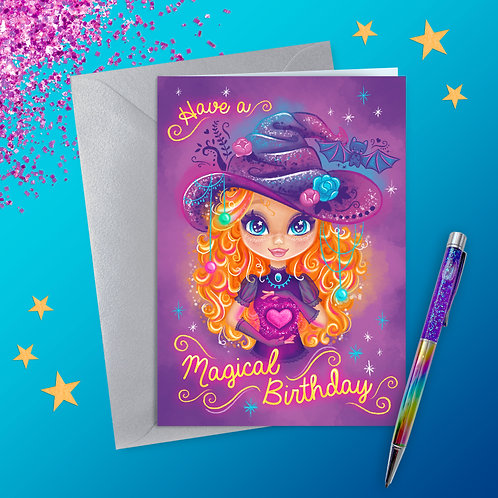 Magic Within Witchy Birthday Card