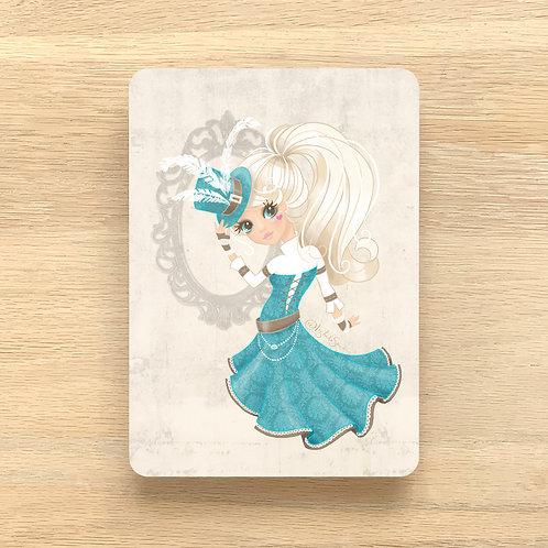 Art Print ~ A4 ~ 'Flirtatious Steampunk' by Liz Yuile