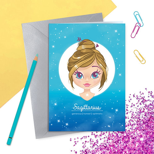 Sagittarius Zodiac Greetings Card
