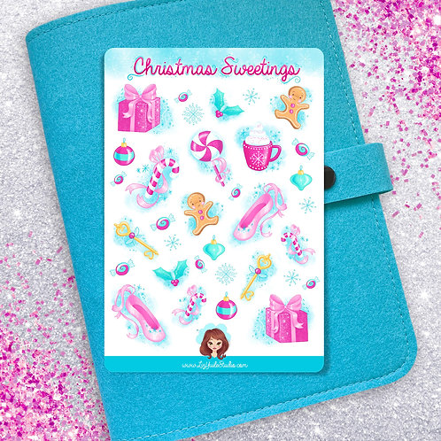Christmas Sweetings Sticker Sheet