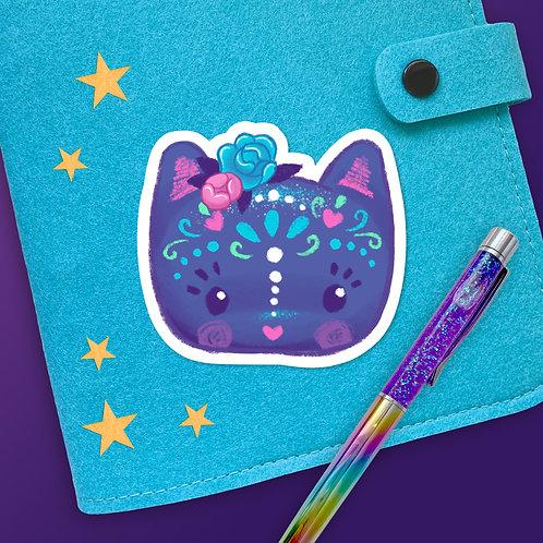 Magic Within Sugar Skull Kitty Sticker