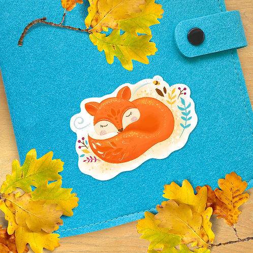 Falling for Autumn Fox Sticker