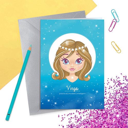 Virgo Zodiac Greetings Card
