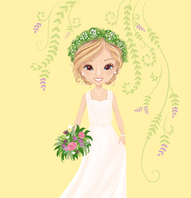 Whimsical Bride Portrait