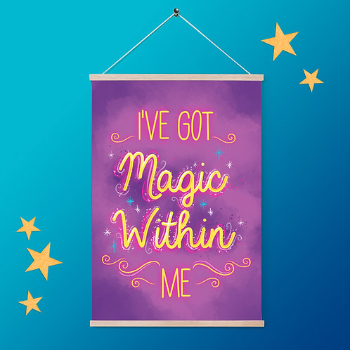 Magic Within Quote Print