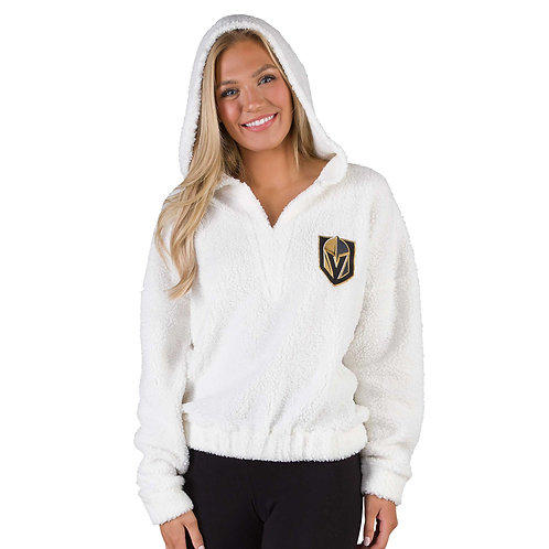 Ladies' Fluffy L/S Hooded Top
