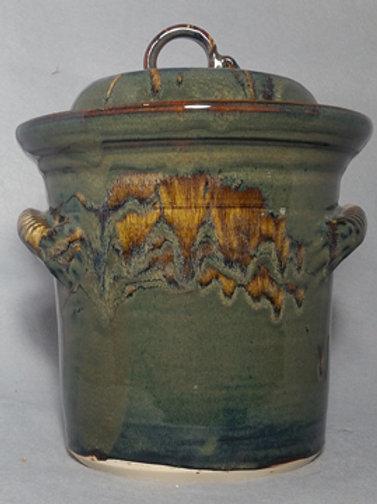 Handmade Pottery  Small  Sauerkraut Crock