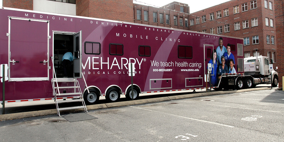 The Meharry Mobile Unit Clinic providing high-quality and comprehensive care – right in your neighborhood.