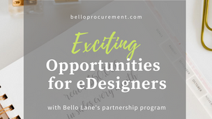 EXCITING NEW OPPORTUNITIES FOR eDESIGNERS