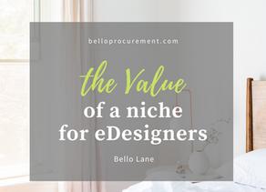 The Value of a Niche for E-designers