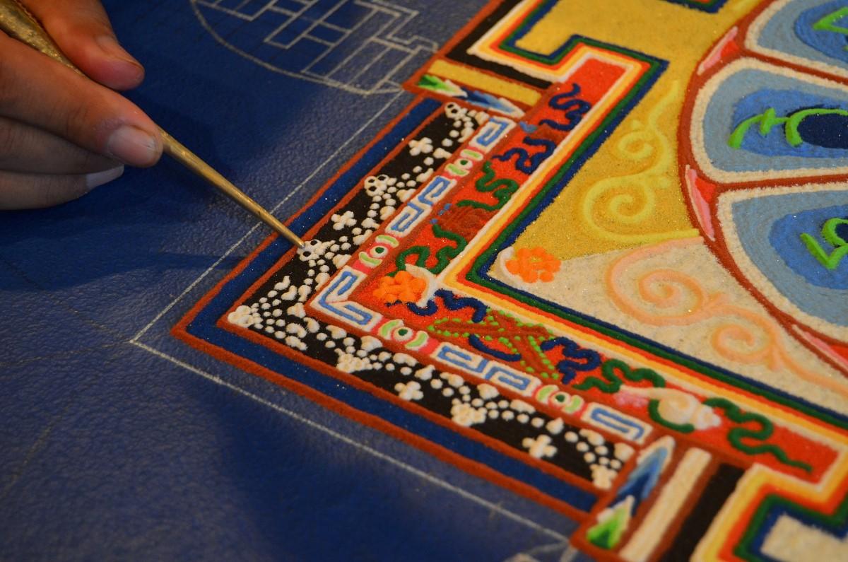 Sand Mandala Detail  photo by Tripp MiKich