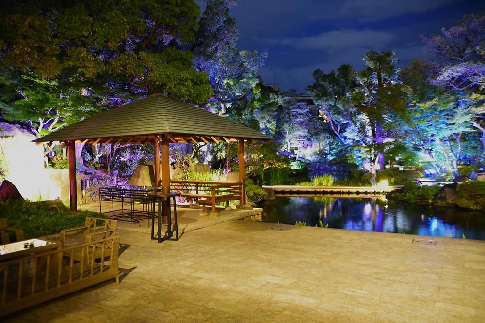 太閤園 庭園ライトアップ