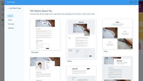 Wixエディタ「ページを追加」にデザイン提案、自動レイアウトの機能が登場!