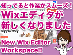 知ってると作業がスムーズ!Wixエディタが新しくなりました New Wix Editor Workspace!!
