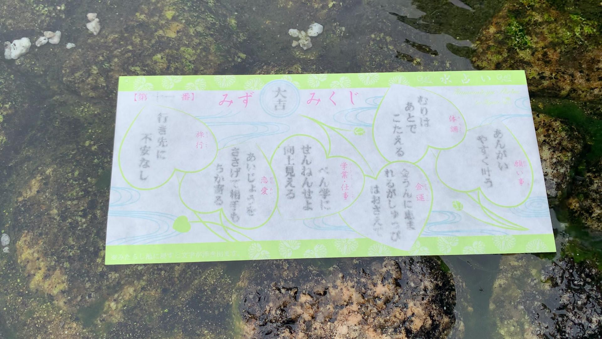 下鴨神社 水占い