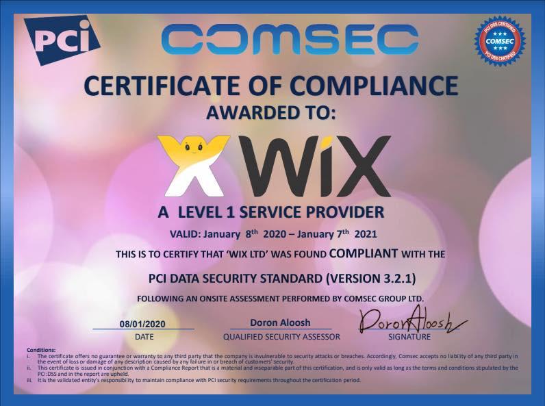 PCI Data Security Standard による、第一水準のサービスプロバイダーとしての認定