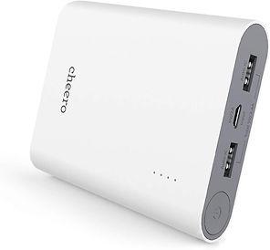 cheero Power Plus 3 13400mAh 大容量 モバイルバッテリーCHE-059-WH