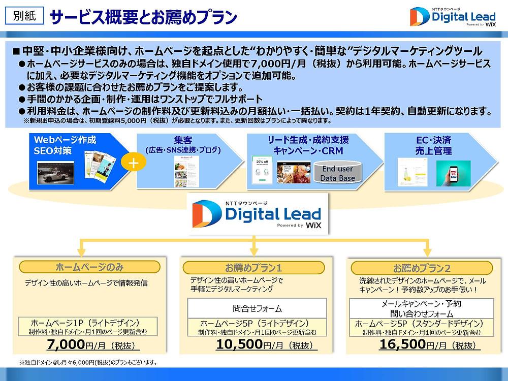 NTTタウンページ デジタルリード サービスプラン