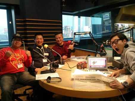 生出演!FM OSAKA 「遠藤淳さんのYou've Got a Radio!」