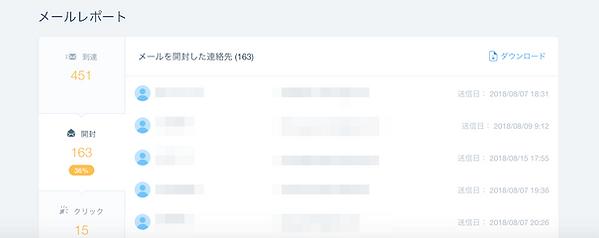 Wix メルマガ配信 到達・開封・クリック・未開封・未到達リスト