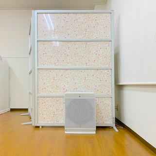 レンタルスタジオLoulou(ルル)室内 パーテーション 空気清浄機