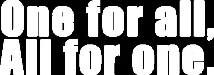 守成クラブスローガン One for all, Aii for one.