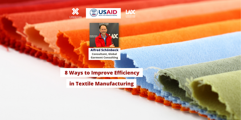 8 Ways to Improve Efficiency in Textile Manufacturing