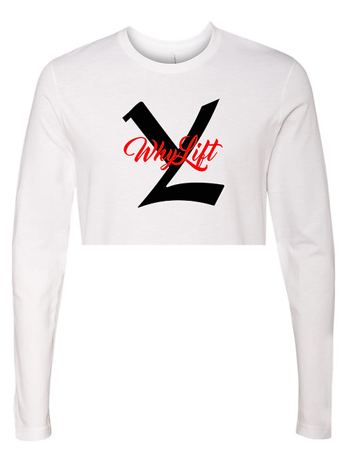 YL Sig Long Sleeve Crop Tops