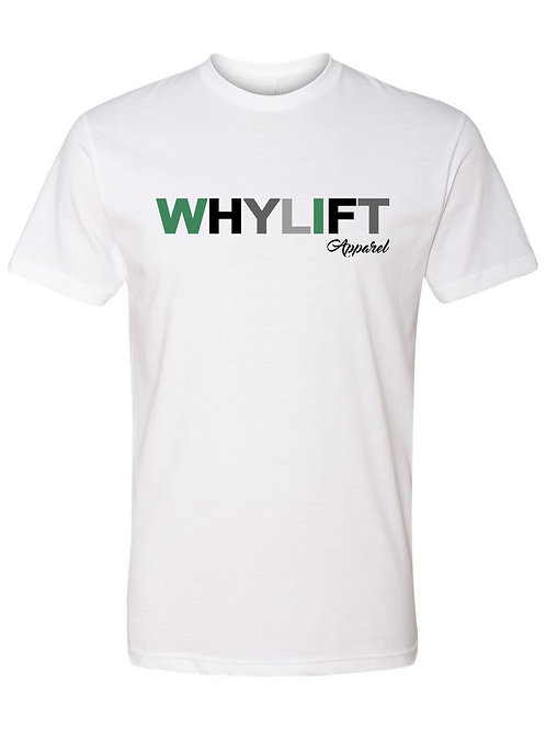 WhyLift V.1 Olive WHITE Unisex Tee