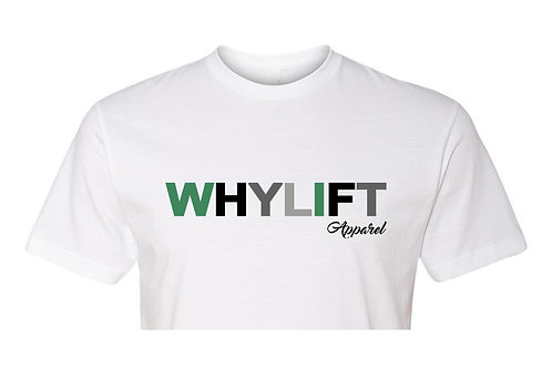 WhyLift V.1 Olive WHITE Crop Tee