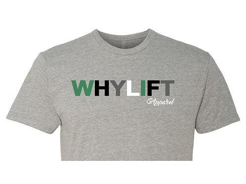 WhyLift V.1 Olive GREY Crop Tee