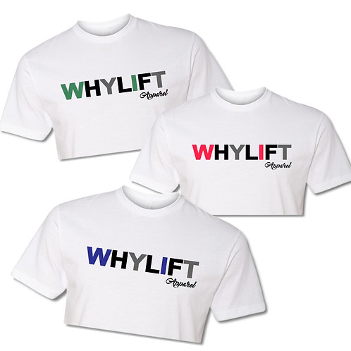 WhyLift V.1 WHITE Crop Tee