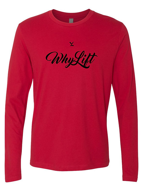 WhyLift Signature Red Long Sleeve