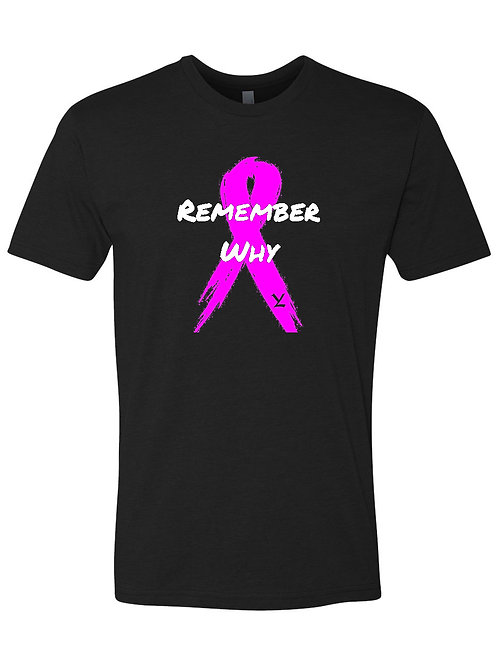 Breast Cancer Awareness REMEMBER WHY V.2 UNISEX BLACK
