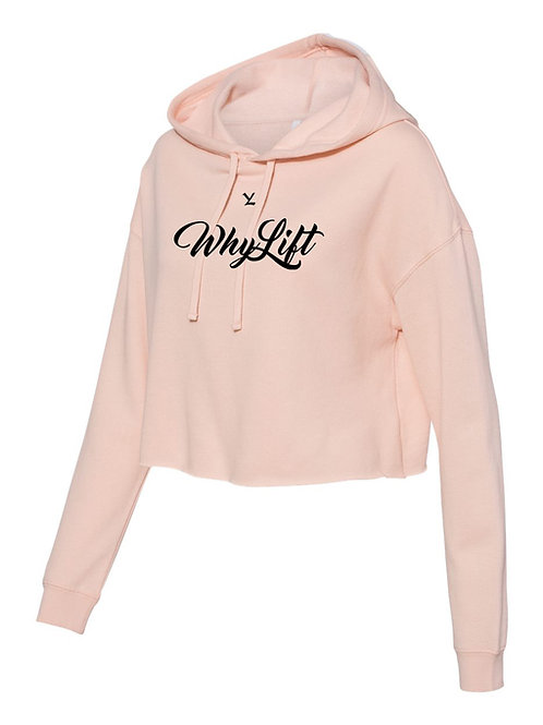 """Signature Cropped Hoodie """"PINK"""""""